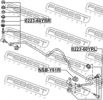 0223-60YRL REAR LEFT STABILIZER LINK OEM to compare: 56260
