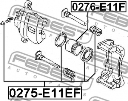 0276-E11F CYLINDER PISTON (FRONT) OEM to compare: 41121