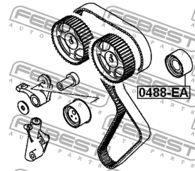 0488-EA PULLEY IDLER OEM to compare: MD377198Model