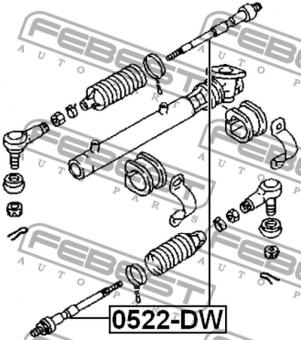 0522-DW SPURSTANGE OEM zum Vergleich: D102-32-240; D102-32