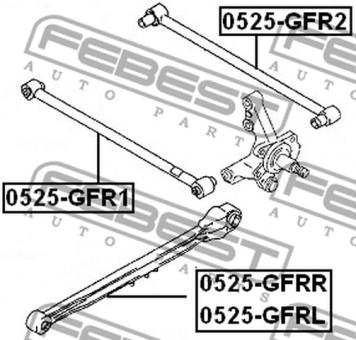 0525-GFRL AXIALSTANGE (STREBE) HA LINKSL OEM zum Vergleich