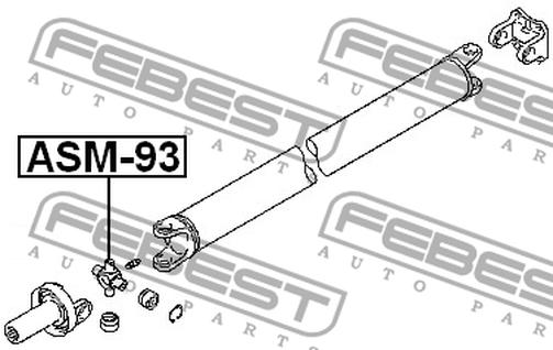 ASM-93 KREUZGELENK FÜR KARDANWELLE OEM zum Vergleich