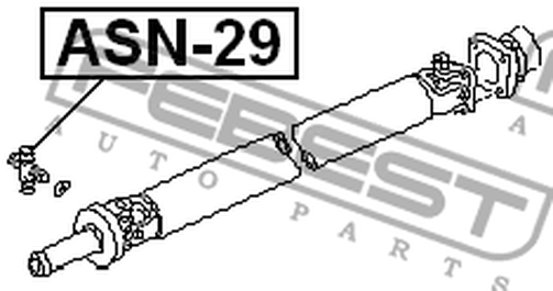 ASN-29 UNIVERSAL JOINT 28X53 OEM to compare: 37126-C9425