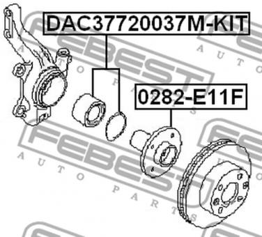 DAC37720037M-KIT FRONT WHEEL BEARING (37X72X37) OEM to