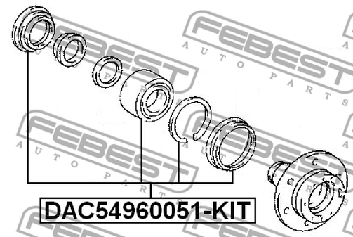DAC54960051-KIT FRONT WHEEL BEARING REPAIR KIT(BEARING 2