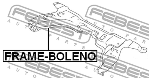 FRAME-BOLENO FRAME FRONT SUSPENSION OEM to compare: 45810