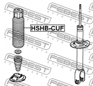 HSHB-CUF FRONT SHOCK ABSORBER BOOT ACURA TSX 2009-2014 OE