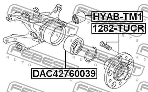 HYAB-TM1 ARM BUSH REAR ASSY OEM to compare: 55215-2S200