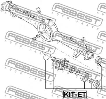 KIT-ET ROLLER BEARING KIT FORD RANGER OE-Nr. to comp: 3735783
