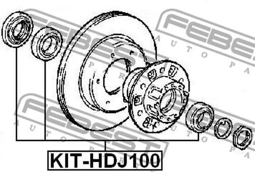 KIT-HDJ100 ROLLER BEARING KIT OEM to compare: 43422-60010