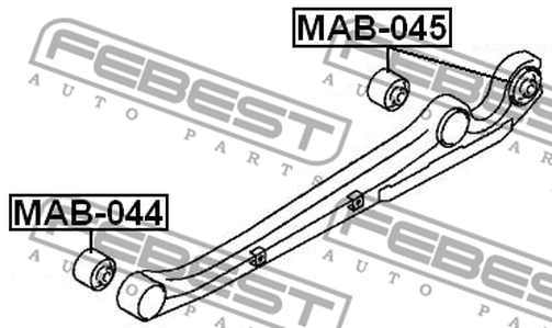 MAB-044 ARM BUSH FOR LATERAL CONTROL ARM OEM to compare