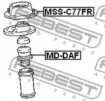 MSS-C77FR FRONT SHOCK ABSORBER SUPPORT OEM to compare