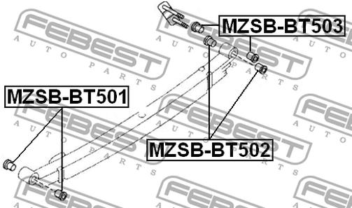 MZSB-BT501 LAGER FÜR FEDERN. OEM zum Vergleich: 1454931