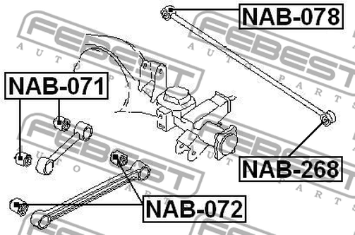 NAB-071 ARM BUSH FOR LATERAL CONTROL ROD OEM to compare