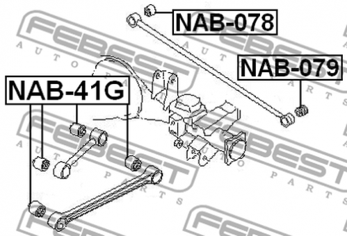 NAB-41G ARM BUSH FOR LATERAL CONTROL ROD OEM to compare