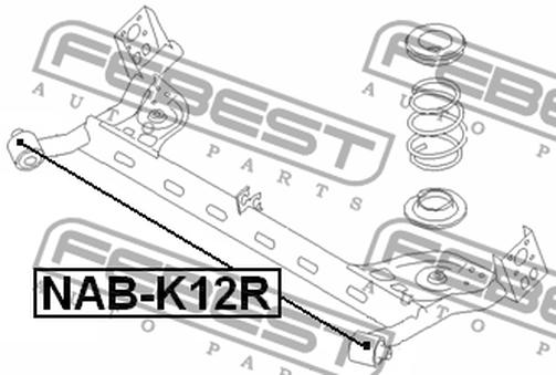 NAB-K12R ARM BUSH REAR ARM OEM to compare: #55316-AX600