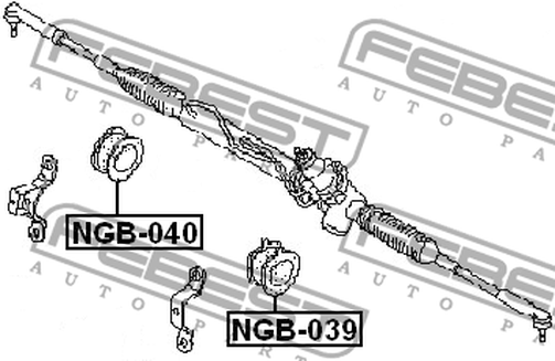 NGB-040 GROMMET STEERING RACK HOUSING OEM to compare