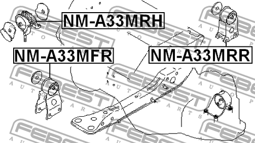 NM-A33MRR REAR ENGINE MOUNTING OEM to compare: 11320-40U00