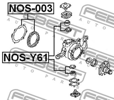 NOS-003 OIL SEAL KIT FOR FRONT AXLE OVERHAUL OEM to