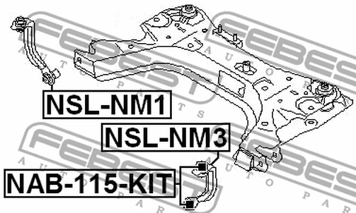 NSL-NM3 FRONT LEFT STABILIZER LINK OEM to compare: 54525