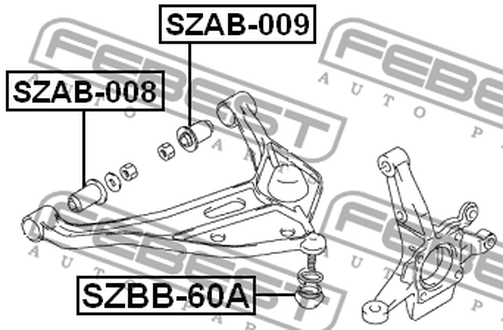 SZBB-60A LOWER ARM BALL JOINT BOOT OEM to compare: #45700