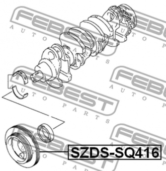 SZDS-SQ416 CRANKSHAFT PULLEY ENGINE OEM to compare: 12610