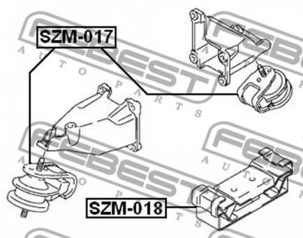 SZM-018 REAR ENGINE MOUNTING OEM to compare: 11710