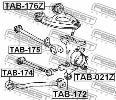 TAB-174 LAGER FÜR LANGSLENKER OBERER HA OEM zum Vergleich