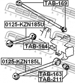 TAB-211 ARM BUSH FOR LATERAL CONTROL ARM OEM to compare