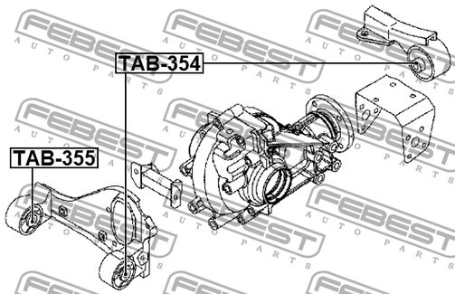 TAB-355 ARM BUSH DIFFERENTIAL MOUNTING OEM to compare