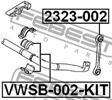 VWSB-002-KIT FRONT STABILIZER BUSHING KIT D20 AUDI Q7 2006