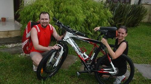 Nossa primeira pedalada