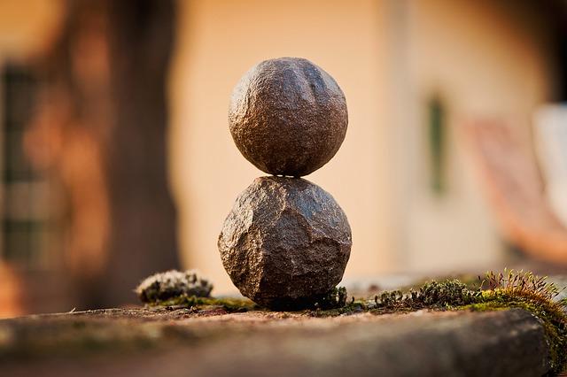 Pedras equilíbrio harmonia