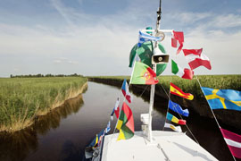 """Austria; Burgenland, Neusiedlersee, Ausflugsboot (Excursion Boat) of """"Holiday Lines"""" on the lake around Rust"""