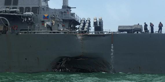 collision USS John McCain pétrolier piratage informatique