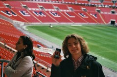 """Dezember 2012: """"reingeschrieben"""" hört unseren Podcast sogar im Wembley-Stadion in London! Sensationeller support! Vielen Dank!!"""