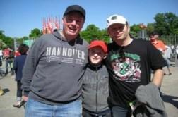 April 2011: Broxi, Emil, Fellini bei Hannover 96 gegen Gladbach