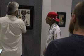 Brett Mullinix discussing his artwork