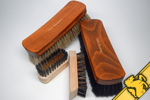 german leather care brushes