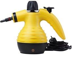 MEDION MD 16472 Dampfreiniger für jeden Haushalt, tragbar, 1050 Watt, 250 ml Wassertank, großes Zubehör-Set, gelb -