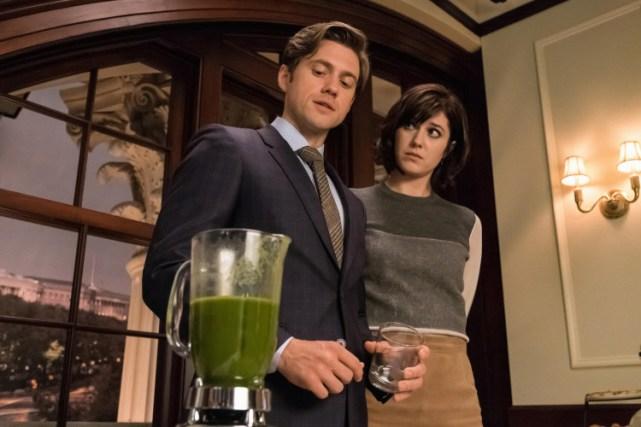 Laurel y Gareth, en una de sus escenas más verdes