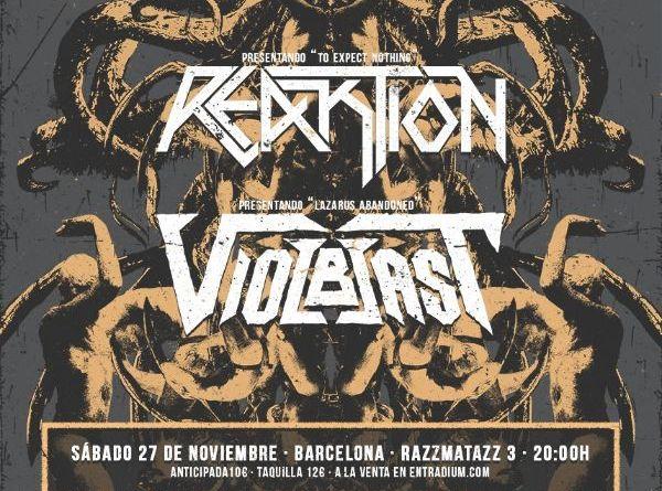 VIOLBLAST Y REAKTION descargarán su música en Barcelona