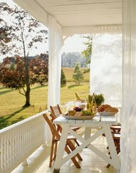 outdoor+curtains+porch+country+living