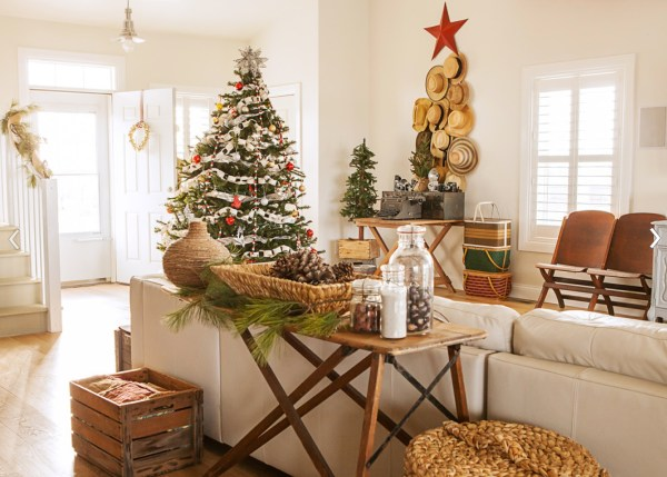 rustic christmas decor ideas - Vintage Rustic Christmas Decorations