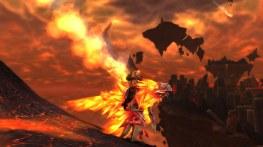 Knave's shaman, Ascetic, on her Flametalon of Alysrazor