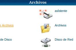 administrador de archivos cpane