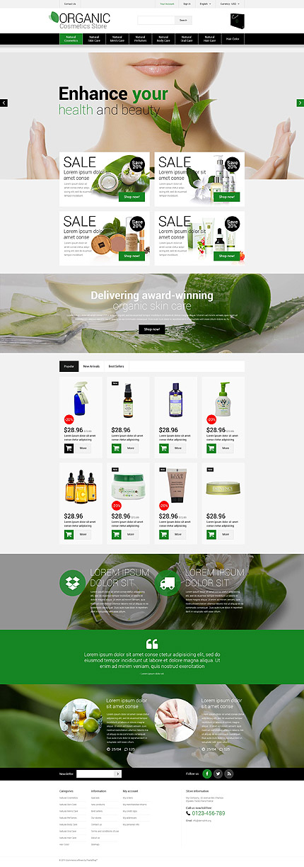 Natural Cosmetics PrestaShop Theme