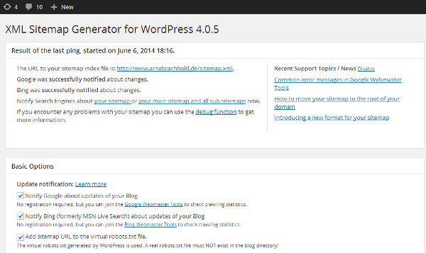 xml sitemap generator plugin
