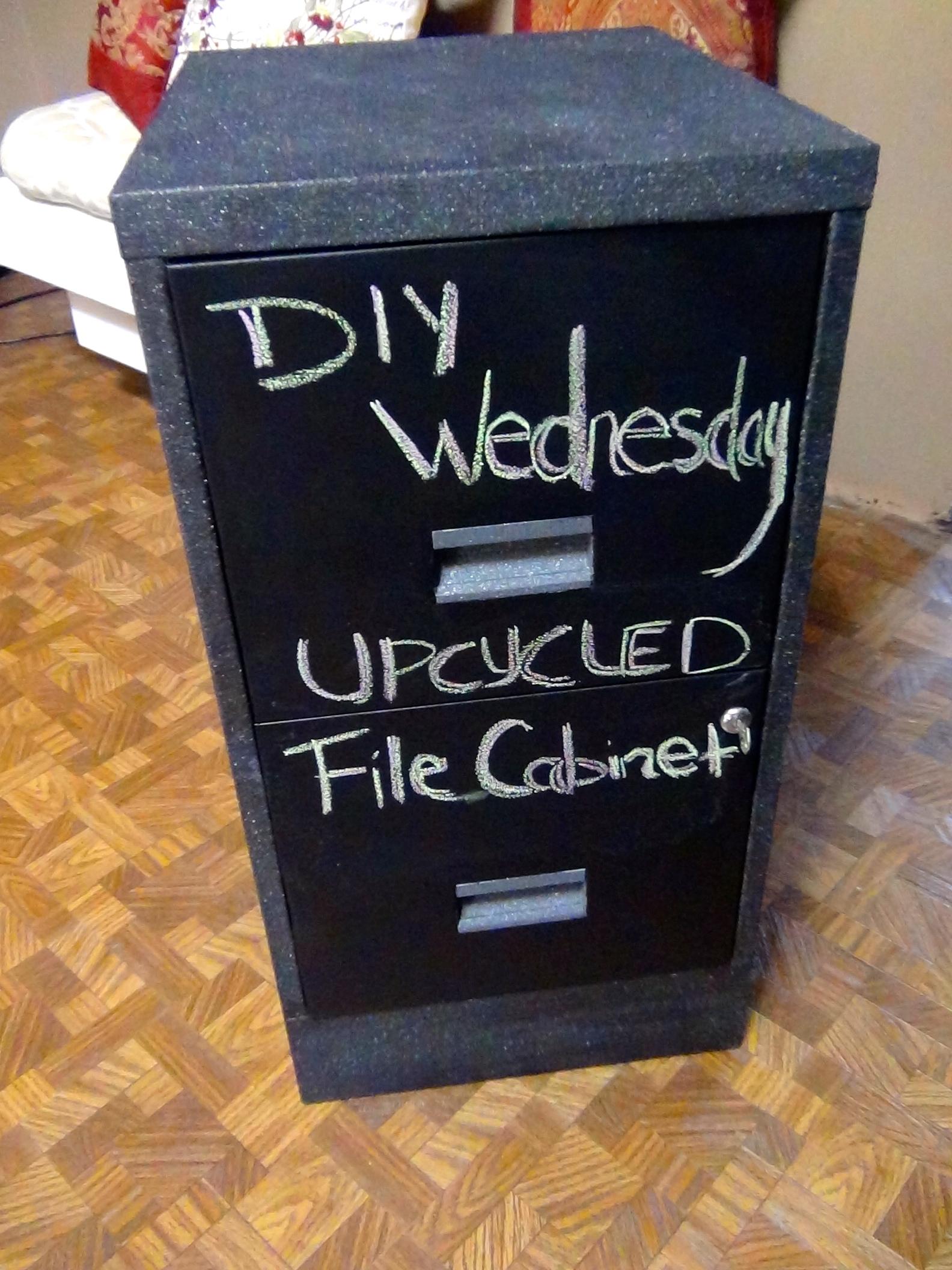 HowTo DIY Chalkboard Paint Metal File CabinetsTax Season