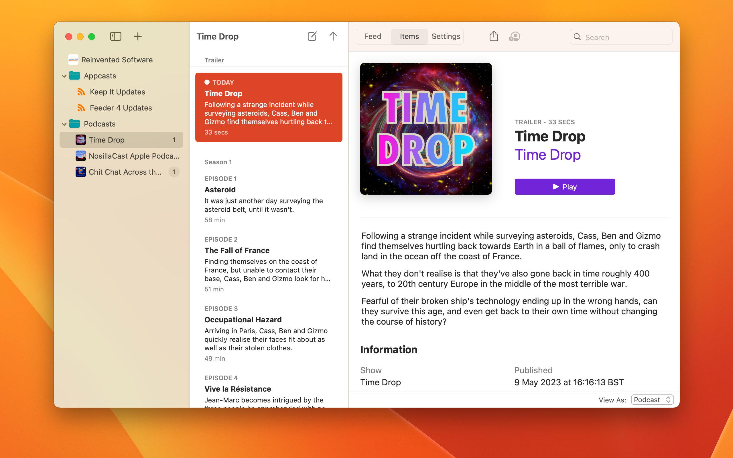 Feeder 4.2.4 Mac 破解版 创建和发布的RSS